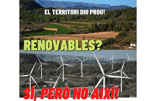 Mobilizations against renewable energy installations in the Tarragona region