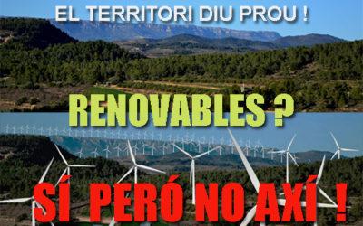 Mobilisations contre les installations d'énergies renouvelables dans la région de Tarragone